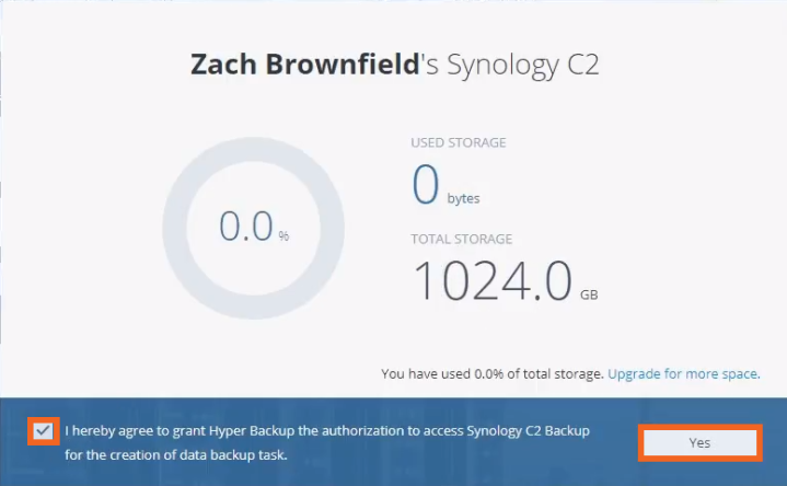 Synology C2 Backup – Setup Guide – Thought Provoking Tech