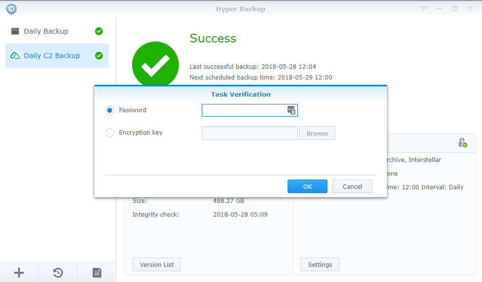 Synology C2 Backup – How to Restore Files – Thought